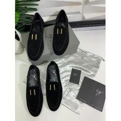 Simple Black Suede Zanotti Men's Shoe