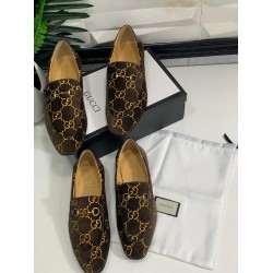 Brown Gucci Pattern Men's Shoe